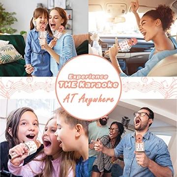 LetsGO toyz Mikrofon Kinder, Geschenke für Kinder Spielzeug Jungen 4-12 Jahre Kinder Spielzeug ab 5-12 Jahren für Jungen Mädchen Karaoke Bluetooth Mikrofon Kindertagsgeschenk Microphone - 2