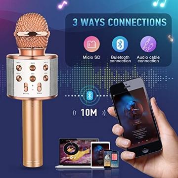 LetsGO toyz Mikrofon Kinder, Geschenke für Kinder Spielzeug Jungen 4-12 Jahre Kinder Spielzeug ab 5-12 Jahren für Jungen Mädchen Karaoke Bluetooth Mikrofon Kindertagsgeschenk Microphone - 3