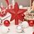 LICHENGTAI Weihnachtskugeln Weihnachtsdeko Christbaumschmuck Aufhänger, Kunststoff Weihnachtsbaumkugeln Box mit Weihnachtsbaum Topper, für Dekorationen Festival Dekore Weihnachtsbaumschmuck - 2