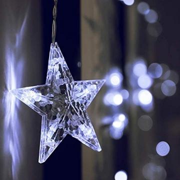 Lichtervorhang Fenster led,Lichterkette,Lichtervorhang Lichter Weihnachtsbeleuchtung,LED Lichterkette,Lichtervorhang Fenster Sterne,LED Sterne Lichterkette,LED Lichtervorhang Lichterkette - 3