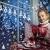 Lifelf Weihnachten Aufkleber Sticker, Weihnachtsdekoration Fensterdeko mit typischen Motiven, Schneeflocke Tannenbaum Rentier, Fensteraufkleber für Zuhause Tür Vitrinen Schaufenster - 2