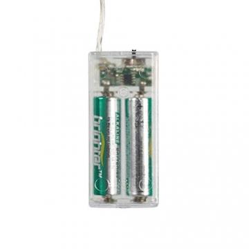 Lights4fun 10er Micro LED Herz Silhouette perlweiß Batteriebetrieb mit Perlen Timer - 4