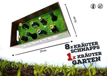 Männer-Kräutergarten | witziges Geschenk mit Alkohol | 8x Kräuter-Likör für Männer und Frauen | Jägermeister, Kümmerling u.v.m. - 4