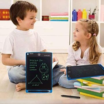 mafiti LCD Schreibtafel für Kinder, Handschrift Notizblock, Zeichnung Boards Schreibtafel für Kinder, Doodle Board, Writing Tablet, Geschenk für Kinder Erwachsene Home School Office (8,5 Zoll Blau) - 4