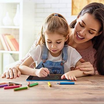 mafiti LCD Schreibtafel für Kinder, Handschrift Notizblock, Zeichnung Boards Schreibtafel für Kinder, Doodle Board, Writing Tablet, Geschenk für Kinder Erwachsene Home School Office (8,5 Zoll Blau) - 5