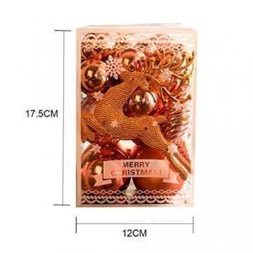 MEISHANG 30PCS Weihnachtskugeln,Kunststoff Christbaumkugeln,Weihnachtsbaum Bälle Dekorationen,Weihnachtskugeln Ornamente,Weihnachtsbaumschmuck,Weihnachtsbaum Dekoration - 2