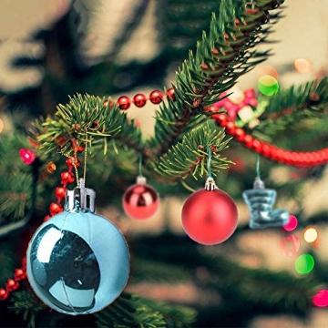 MEISHANG 30PCS Weihnachtskugeln,Kunststoff Christbaumkugeln,Weihnachtsbaum Bälle Dekorationen,Weihnachtskugeln Ornamente,Weihnachtsbaumschmuck,Weihnachtsbaum Dekoration - 5