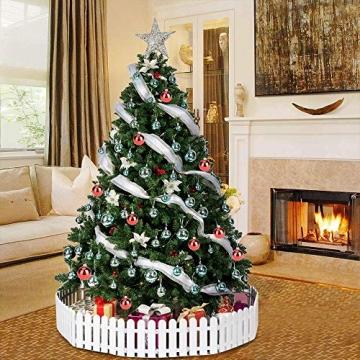 MEISHANG 30PCS Weihnachtskugeln,Kunststoff Christbaumkugeln,Weihnachtsbaum Bälle Dekorationen,Weihnachtskugeln Ornamente,Weihnachtsbaumschmuck,Weihnachtsbaum Dekoration - 6