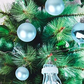 MEISHANG 30PCS Weihnachtskugeln,Kunststoff Christbaumkugeln,Weihnachtsbaum Bälle Dekorationen,Weihnachtskugeln Ornamente,Weihnachtsbaumschmuck,Weihnachtsbaum Dekoration - 7