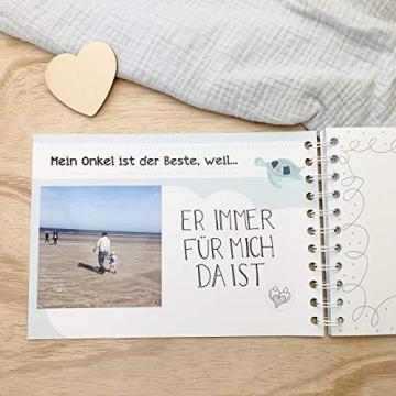 mintkind Erinnerungsbuch Mein Onkel und Ich I Momente und Erinnerungen festhalten I Fotoalbum Geschenkidee DIY - 4