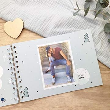 mintkind Erinnerungsbuch Mein Onkel und Ich I Momente und Erinnerungen festhalten I Fotoalbum Geschenkidee DIY - 5
