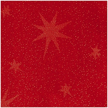 MODERNO Lurex Sterne Tischdecke Eckig 130x220 cm Rot Gold, Weihnachtstischdecke Größe und Farbe wählbar (Gold, Silber oder Rot glänzend) - 2