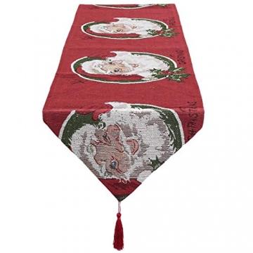 mookaitedecor Weihnachten Tischläufer, Tischtuch, Tischdecke, Tischband Dekorationen Tischdekoration für Feier, Party, Evendekorationen - Größe 33x170 cm - 2
