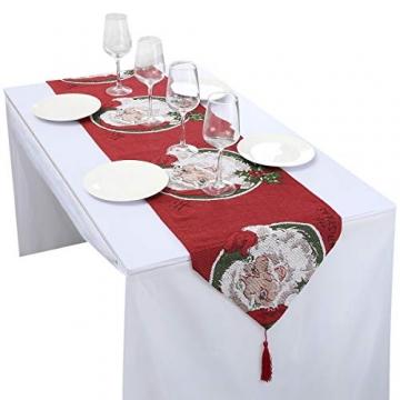 mookaitedecor Weihnachten Tischläufer, Tischtuch, Tischdecke, Tischband Dekorationen Tischdekoration für Feier, Party, Evendekorationen - Größe 33x170 cm - 3
