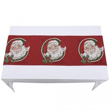 mookaitedecor Weihnachten Tischläufer, Tischtuch, Tischdecke, Tischband Dekorationen Tischdekoration für Feier, Party, Evendekorationen - Größe 33x170 cm - 4