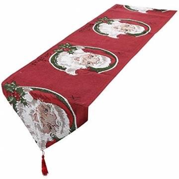 mookaitedecor Weihnachten Tischläufer, Tischtuch, Tischdecke, Tischband Dekorationen Tischdekoration für Feier, Party, Evendekorationen - Größe 33x170 cm - 1