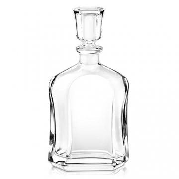 Murrano Whiskey Karaffe + 4er Whiskygläser Set mit Gravur - 700ml Whisky Dekanter - Geschenk zum Geburtstag für Männer - Onkel - 3