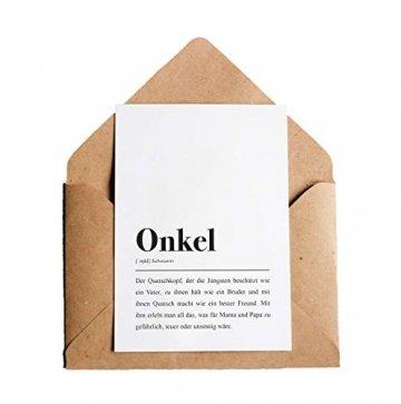 Onkel Definition: Grußkarte mit Umschlag - 1