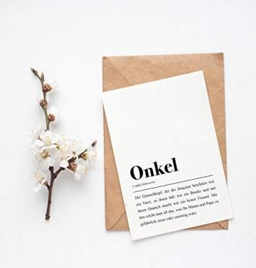 Onkel Definition: Grußkarte mit Umschlag - 2