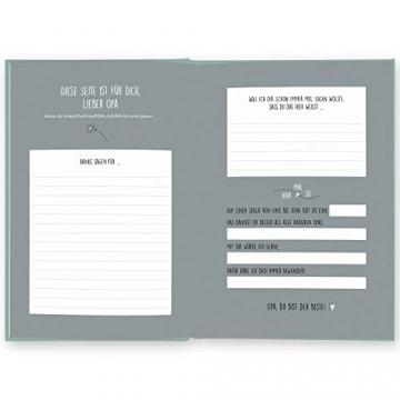 Opa, was kannst du mir von dir erzählen?: Das Ausfüllbuch zum Verschenken (türkisblau) - 3