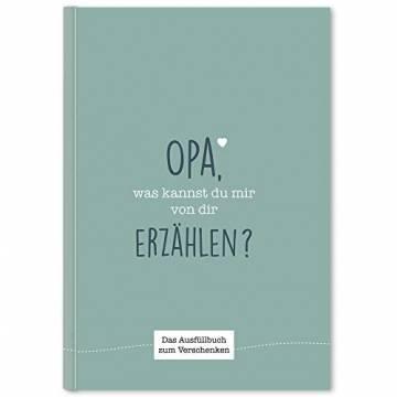 Opa, was kannst du mir von dir erzählen?: Das Ausfüllbuch zum Verschenken (türkisblau) - 1