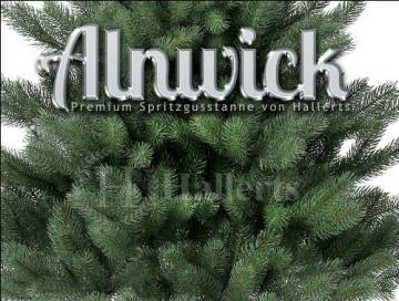 Original Hallerts® Spritzguss Weihnachtsbaum Alnwick 150 cm als Nordmanntanne - Christbaum zu 100% in Spritzguss PlasTip® Qualität - schwer entflammbar nach B1 Norm, Material TÜV und SGS geprüft - 2