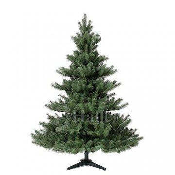 Original Hallerts® Spritzguss Weihnachtsbaum Alnwick 150 cm als Nordmanntanne - Christbaum zu 100% in Spritzguss PlasTip® Qualität - schwer entflammbar nach B1 Norm, Material TÜV und SGS geprüft - 1