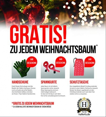 Original Hallerts® Spritzguss Weihnachtsbaum Alnwick 210 cm Nordmanntanne - zu 100% in Spritzguss PlasTip® Qualität - schwer entflammbar nach B1 Norm, Material TÜV und SGS geprüft - Premium Spritzguss - 3