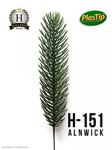 Original Hallerts® Spritzguss Weihnachtsbaum Alnwick 210 cm Nordmanntanne - zu 100% in Spritzguss PlasTip® Qualität - schwer entflammbar nach B1 Norm, Material TÜV und SGS geprüft - Premium Spritzguss - 4