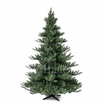 Original Hallerts® Spritzguss Weihnachtsbaum Alnwick 210 cm Nordmanntanne - zu 100% in Spritzguss PlasTip® Qualität - schwer entflammbar nach B1 Norm, Material TÜV und SGS geprüft - Premium Spritzguss - 1