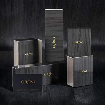 Orovi Kette - Halskette Damen Gelbgold 9 Karat / 375 Gold Kette mit Herz 45 cm - 5