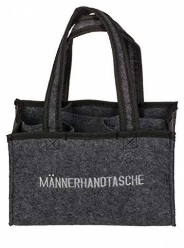 Out of the Blue 713163 - Männerhandtasche aus Filz mit 6 Fächern, ca. 24 x 15 cm - 1