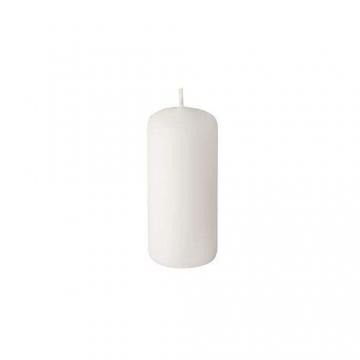 Papstar Stumpenkerze / Säulenkerze weiß (10 Stück) Durchmesser 4 cm, Höhe 9 cm, lange Brenndauer ca. 9 Stunden, rußfreies Abbrennen, für Gastronomie, Geburtstage und Feiern, #17915 - 2