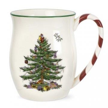 Portmeirion Home & Gifts Becher mit Pfefferminzgriffen, 4-teiliges Set, Keramik, mehrfarbig, 9 x 9 x 11 cm - 1