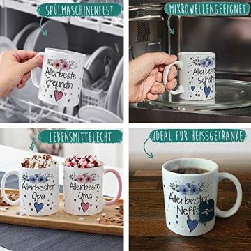PR Print Royal Geschenk-Set aus Tasse und Kissen mit Füllung - Allerbeste Tante - Persönliche Geschenkidee für Beste Freunde, Verwandte und Familie - weiß/rosa - 5