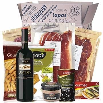 Präsentbox - Tapas-Abend für Zwei I Tapas para dos I Geschenk für Feinschmecker und Spanienfans   Spezialitäten aus Spanien   Geschenk für Männer & Frauen - 1