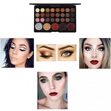 Qhome Alles in Einem Make-Up-Set 27 Stück Professionelles Make-Up-Set Tragbares Reisekosmetik-Set für Mädchen Frauen (Lidschatten-Textmarker Lippenstift Rougepinsel Usw) - 4