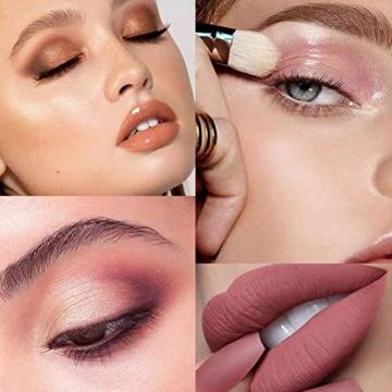 Qhome Alles in Einem Make-Up-Set 27 Stück Professionelles Make-Up-Set Tragbares Reisekosmetik-Set für Mädchen Frauen (Lidschatten-Textmarker Lippenstift Rougepinsel Usw) - 5