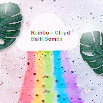 Regenbogen Badebomben Geschenkset (4 Packungen), 4Unzen Regenbogen Badewannenbomben, Geschenk für Kinder Frauen - 2