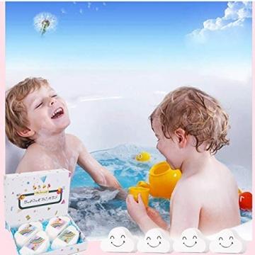 Regenbogen Badebomben Geschenkset (4 Packungen), 4Unzen Regenbogen Badewannenbomben, Geschenk für Kinder Frauen - 4
