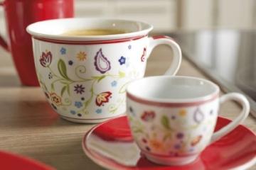 Ritzenhoff & Breker Kaffeeservice Doppio Shanti, 12-teilig, rot, Porzellangeschirr - 3