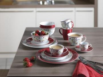 Ritzenhoff & Breker Kaffeeservice Doppio Shanti, 12-teilig, rot, Porzellangeschirr - 4