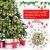 RMENOOR 200 Stücke Weihnachtsbaum Anhänger Holzscheiben Christbaumanhänger Holz Streudeko Baumschmuck Christbaumschmuck Weihnachtsdeko zum Aufhängen (Stil gemischt) - 3