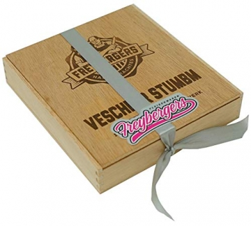Salami Wurstzigarre in edler Geschenk-Box als lustiges Geschenk für Männer Freybergers® Veschber Stumbm für Fleisch-Geschenkideen   Mini Wurstsnack aus regionalem Fleisch (1x Box) - 2