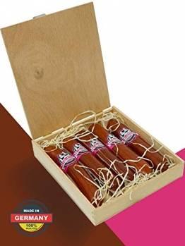 Salami Wurstzigarre in edler Geschenk-Box als lustiges Geschenk für Männer Freybergers® Veschber Stumbm für Fleisch-Geschenkideen | Mini Wurstsnack aus regionalem Fleisch (1x Box) - 1