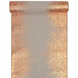 Santex 5877 Tischläufer, metallic, Blush und Kupfer, 1 Stück - 1