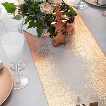 Santex 5877 Tischläufer, metallic, Blush und Kupfer, 1 Stück - 2