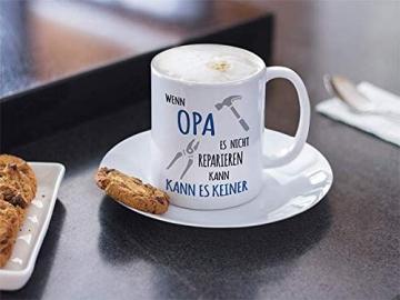 Shirtinator Tasse Geschenk für Opa I Wenn Opa es nicht reparieren kann I Geburtstag Geschenkideen Geschenke für Opa - 6