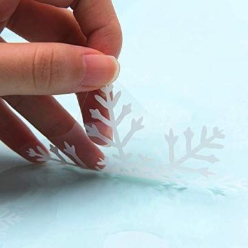 Sinwind Weihnachten Fenstersticker, Fensteraufkleber PVC Fensterbilder Weihnachten Fensterdeko selbstklebend Fensterfolie Weihnachtsdekoration (110cmX38cm) (Weihnachten 8) - 3