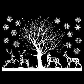 Sinwind Weihnachten Fenstersticker, Fensteraufkleber PVC Fensterbilder Weihnachten Fensterdeko selbstklebend Fensterfolie Weihnachtsdekoration (110cmX38cm) (Weihnachten 8) - 4